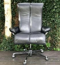 Ekornes Stressless Blues Office Leather Recliner Armchair