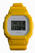 Casio Women's G-Shock Digital Yellow Resin Gray Dial Watch DW5600CU-9