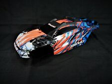 NEW Traxxas 1/10 E-Revo VXL 2.0 Orange Blue Body Shell with Cage / Mount