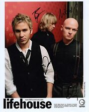 LIFEHOUSE autographed 8x10 color group photo          AWESOME BAND    You and Me