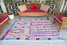 Unique Unusual Design Colorful Beni Ourain Berber Handmade Rug AuthenticTribal
