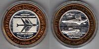 Casino Token:Bi-Metallic:.999 Silver/Brass:McCarran Airport,Las Vegas,Endurance