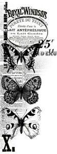 Kaisercraft Windsor Clear Cling Stamp Background Butterflies Script