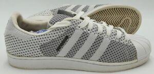 Adidas Superstar Weave Primeknit Trainers S79441 White/Black UK10.5/US11/EU45