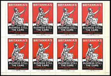WWI Great Britain - Britannia's Business 1/2 sheet of 8