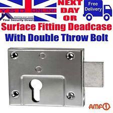Gate/Shed Euro Profile Deadcase Rim Deadlock Double Throw Zinc Plated AMF 49Z