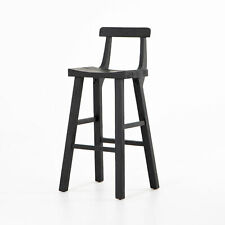"19.75"" W Set of 2 Callen Bar Stool Reclaimed Solid Pine Wood Modern Black"