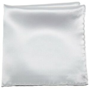 Stefano Ricci Silk Pocket Square Silver Gray 13PS0119 $200