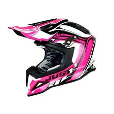 Just1 Helmets J12 Motocross Helmets, Flame Pink, Carbon fibre XL 61-62
