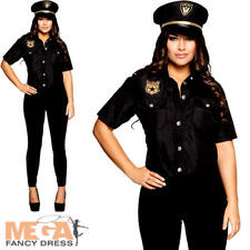 Police Lady Ladies Fancy Dress Cop Officer Uniform Womens Adults Costume Outfit