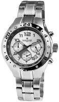 Lancaster Herrenuhr Silber Chronograph Edelstahl Quarz Armbanduhr X-OLA0502SL