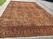 """Antique Persian Sarouk Mohajeran Rug 10'6""""X17'3"""" Cir 1900"""