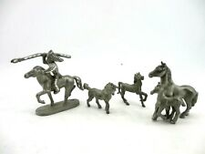 Lot of 4 Piece Spoontiques Pewter Horse Figures