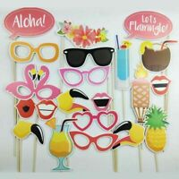 Photo Booth Props Flamingo Tropical Hawaiian Wedding Party Supplies Decor