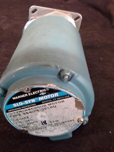 "WARNER ELECTRIC SUPERIOR SLO-SYN MOTOR SS400B-2010U, 120V, 18 RPM, 1/2"" SHAFT"