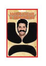 adhésif noir SIDEBURNS & moustache Accessoire déguisement