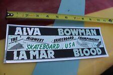 Tony Alva Brad Bowman Skateboard Midwest Dogtown Rare 70's Skateboarding STICKER
