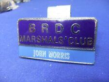 vtg badge brdc british racing drivers marshals club motor race track circuit