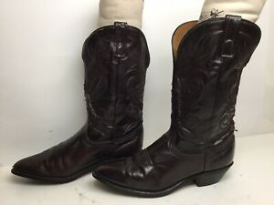 WOMENS UNBRANDED COWBOY BURGUNDY BOOTS SIZE 9 M