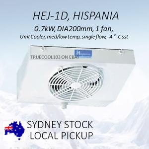 New Evaporator HISPANIA Unit Cooler, Med/Low Temp HEJ1D 0.7KW 1 fan, DIA200mm