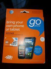 At&T GoPhone kit mico nano standard Sim card Go Phone