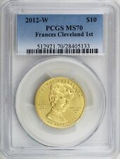 2012-W $10 Frances Cleveland 1st Term, First Spouse 1/2 oz 99.99% Gold PCGS MS70