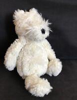 "Rare Little Jellycat White Small Bashful Westie dog Soft Toy / comforter 8"""