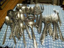 45 pc Stainless Flatware mixed lot Oneida etc