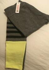 34e96990416f4 Sundry Yoga Pants Leggings Stripes Color Block Gray Yellow Size 0 New With  Tags