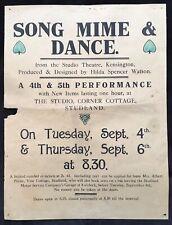 More details for [experimental dance & mime] hilda spencer watson c1923 poster studland dorset