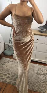 Gold Velvet Maxi Dress Jenny Packham