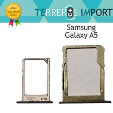 Bandeja Sim y MicroSD para Samsung Galaxy A3 A300f A5 A500f A7 A700f Color Negro