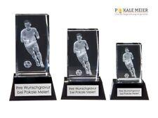 Fußballpokal Kristallglas 3D Motiv inkl Gravur und Geschenkbox | Pokale Meier