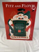 Fitz And Floyd Joy To The World Snowman 5x7 Musical Frame (music Not Working)