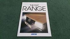 Sept 1985 FIAT UK RANGE BROCHURE 126 PANDA UNO Turbo i.e X1/9 VS STRADA REGATA