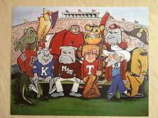 """20x16 Print of """"Ten Original SEC Mascots, dated 1969"""""""
