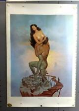 """Vintage 1970s John Pitre'  """"MAN & WOMAN"""" Fantasy  POSTER- Giant Size!"""