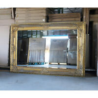 Wooden Mirror Large Gold Bevelled wall mirror & Frame Antique 204CM X 139CM