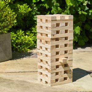Giant Jumbo Jenga Tumbling Tower Wooden Blocks Outdoor Family Garden Game
