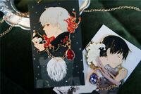 Tokyo Ghoul Kaniki Ken Badge Brooch Rin Shuu Tsukiyama Pin Collection Gift