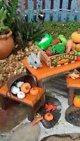 8 Orange Miniature Fairy Garden Doll House Pumpkins. Polymer Clay, Size Varies