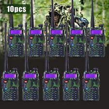 10 PCS BaoFeng UV-5R Green VHF&UHF Dual-Band FM ham 5R radio Walkie Talkie F USA