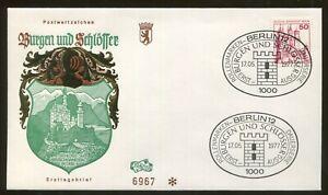 1977 Berlin Germany - Castles & Palaces - Schloss Neuschwanstein In Obb FDC