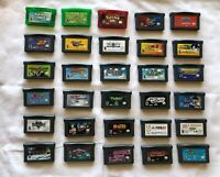 Lot of 30 Gameboy Advance GBA Games - Cartridges Only - Pokemon, Mario and more