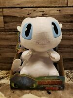 """How to Train Your Dragon Hidden World Squeeze & Growl Light Fury 10"""" Plush NEW!"""