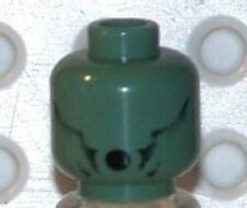 LEGO - HARRY POTTER - Minifig, Head - with HP Dementor Pattern - Sand Green