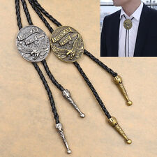 Fashion Bolo Tie Necktie Western Cowboy Rodeo Necklace Ox Head Eagle Pyramid 1pc