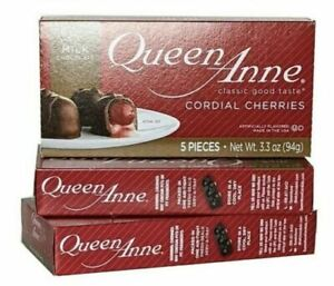 Chocolate Covered Cherries Queen Anne Cordial Cherries 3 BOXES