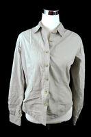 Columbia Fishing Hiking Long Sleeve Lightweight Khaki Shirt 100% Cotton Size M