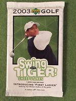 GOLF PGA TIGER WOODS PACKS LOT 2003 Upper Deck Golf - 10 New Unopened Card Packs